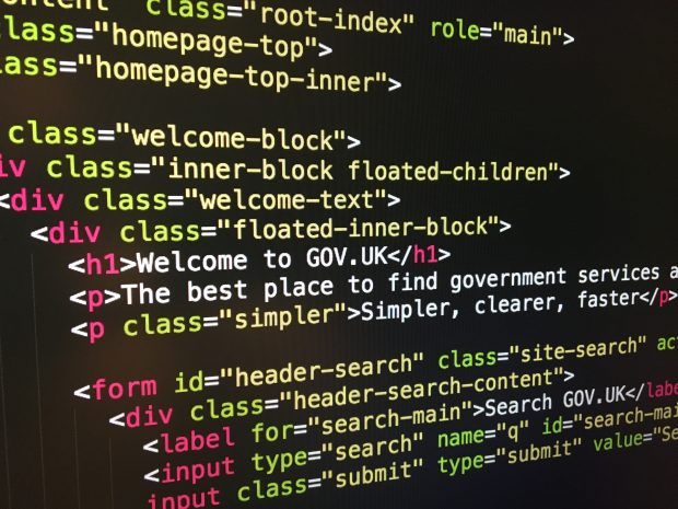 HTML source code for GOV.UK