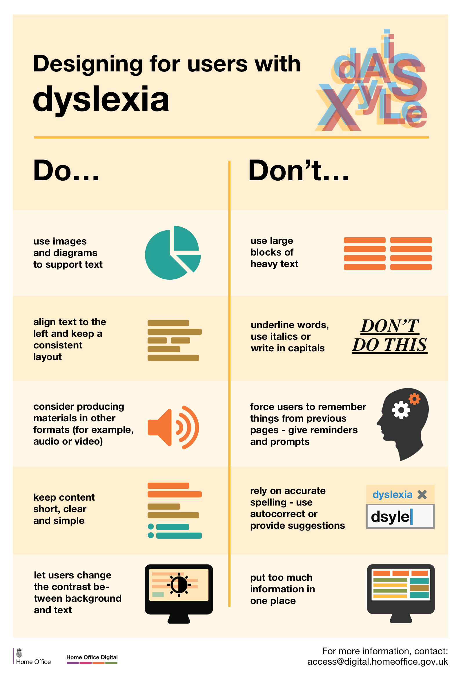 Poster design principles - View Poster For Dyslexia