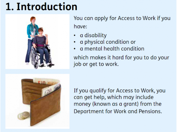 Access to work example