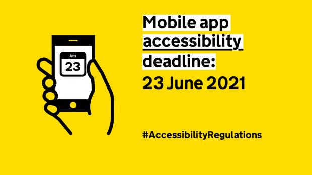 Mobile app accessibility deadline: 23 June 2021 - #AccessibilityRegulations